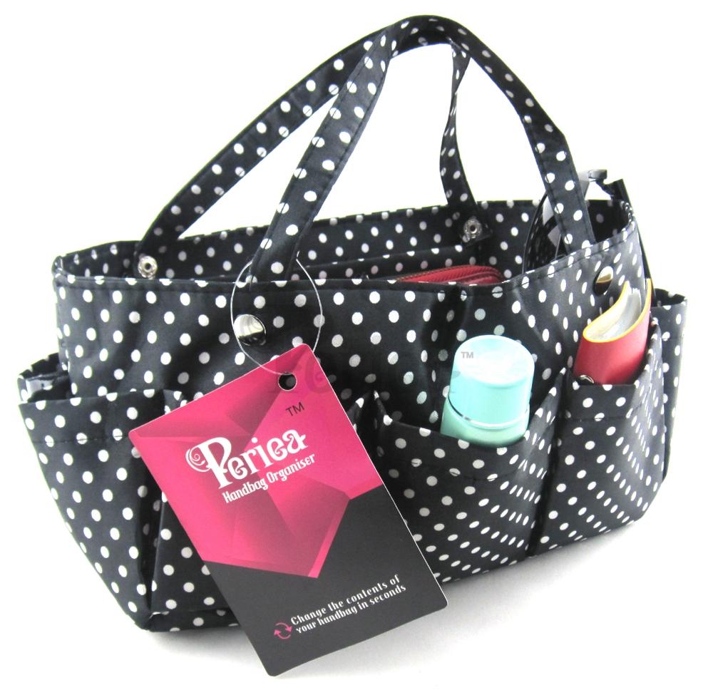 Periea Handbag Organiser Organizer Liner Purse Insert Tidy Neat 13 Compartments